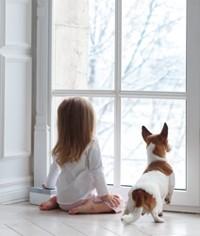 Diet-ventana-niña-perro